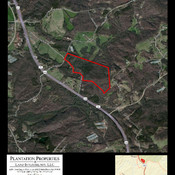 Aerial Map 97 acres Flat Rock Rd